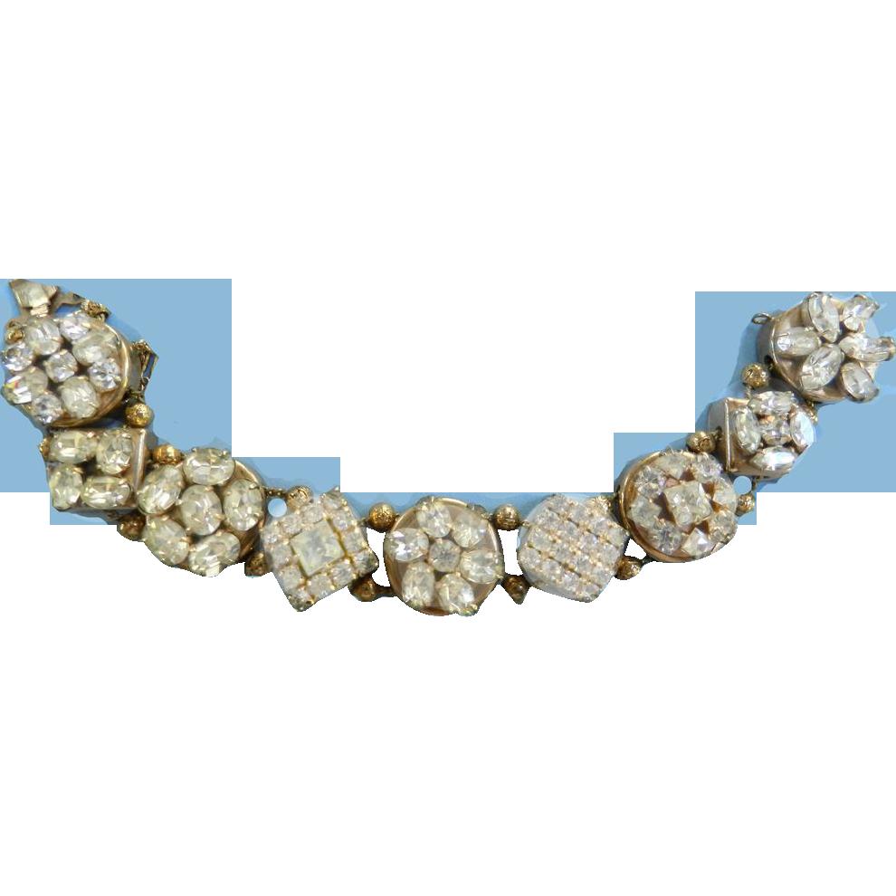 Dazzling Assorted Stones Vintage Slide Bracelet 50s