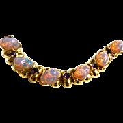 Mesmerizing Vintage Dragon Breath Lava Stone Chunky Bracelet