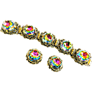 Magnificent High End Big Chunky Vintage Bracelet and Earrings
