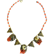 Exquisite Early 1900s Victorian Revival Carnelian Drop Necklace