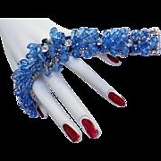 Vintage 50s Cha Cha Huge Crystal Bracelet