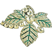 Exquisite Massive Eisenberg Original 1940s Brooch Fur Clip