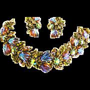 Exquisite Turban Stone Watermelon Florenza Bracelet and Earrings