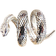 Whiting Davis Vintage Cobra 3 Coil Bracelet and earrings