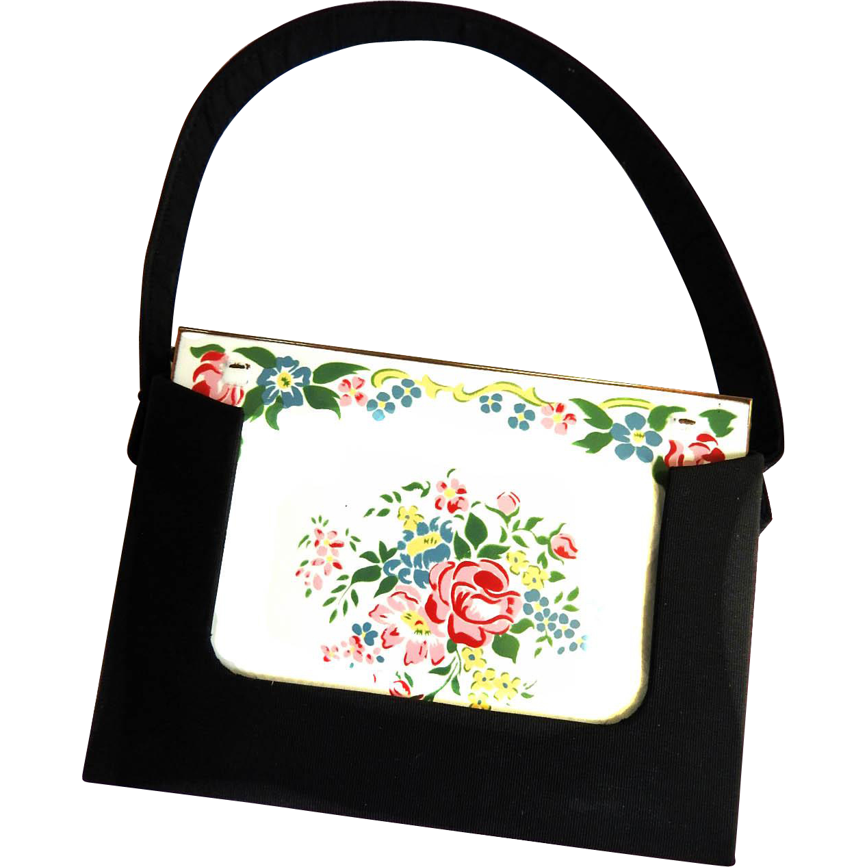 Captivating Veloupte Evening Bag/Compact Vintage
