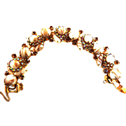 Juliana Fluss Copper 5 Link Cabochon Bracelet