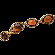 Hattie Carnegie Huge Vintage Topaz Bracelet 50s