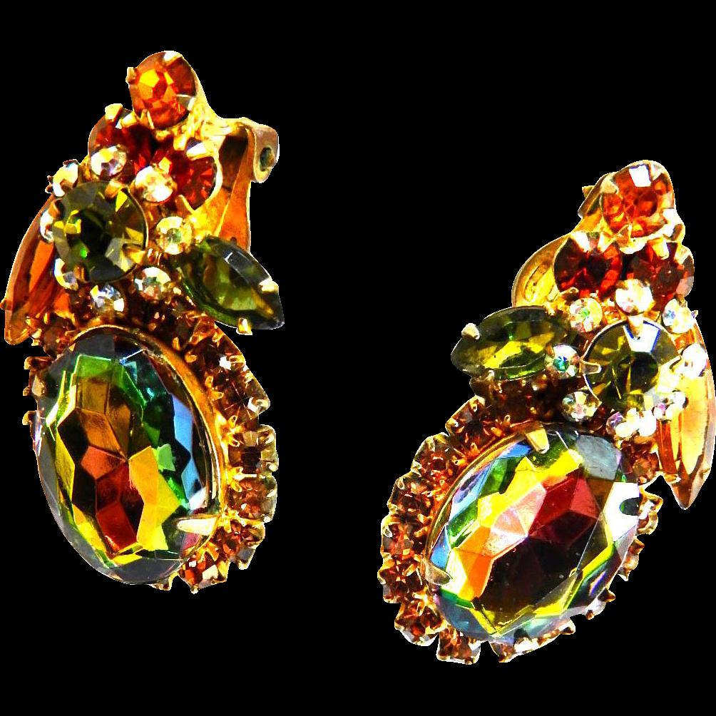 Juliana Watermelon Vintage Earrings