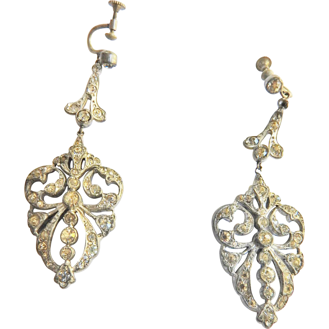 1930s Exquisite Paste Earrings