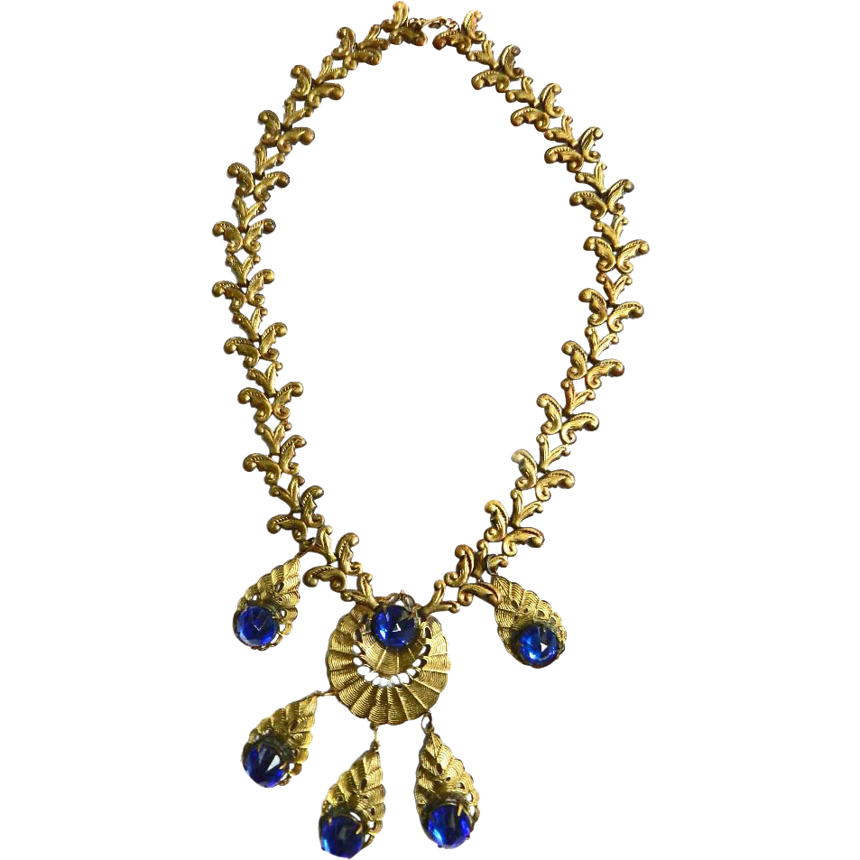 Gorgeous Victroian Revival Early 1900s Drippy Necklace