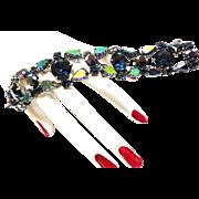 Exquisite Schiaparelli Vintage Montana AB Chunky Bracelet