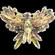 Fabulous Designer Art Glass Butterfly 1950s Vintage