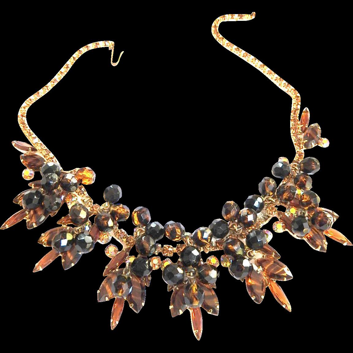Juliana Tiger Stripe Drippy Vintage Necklace