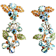 Magnificent Museum Quality Schiaparelli Earrings 40s