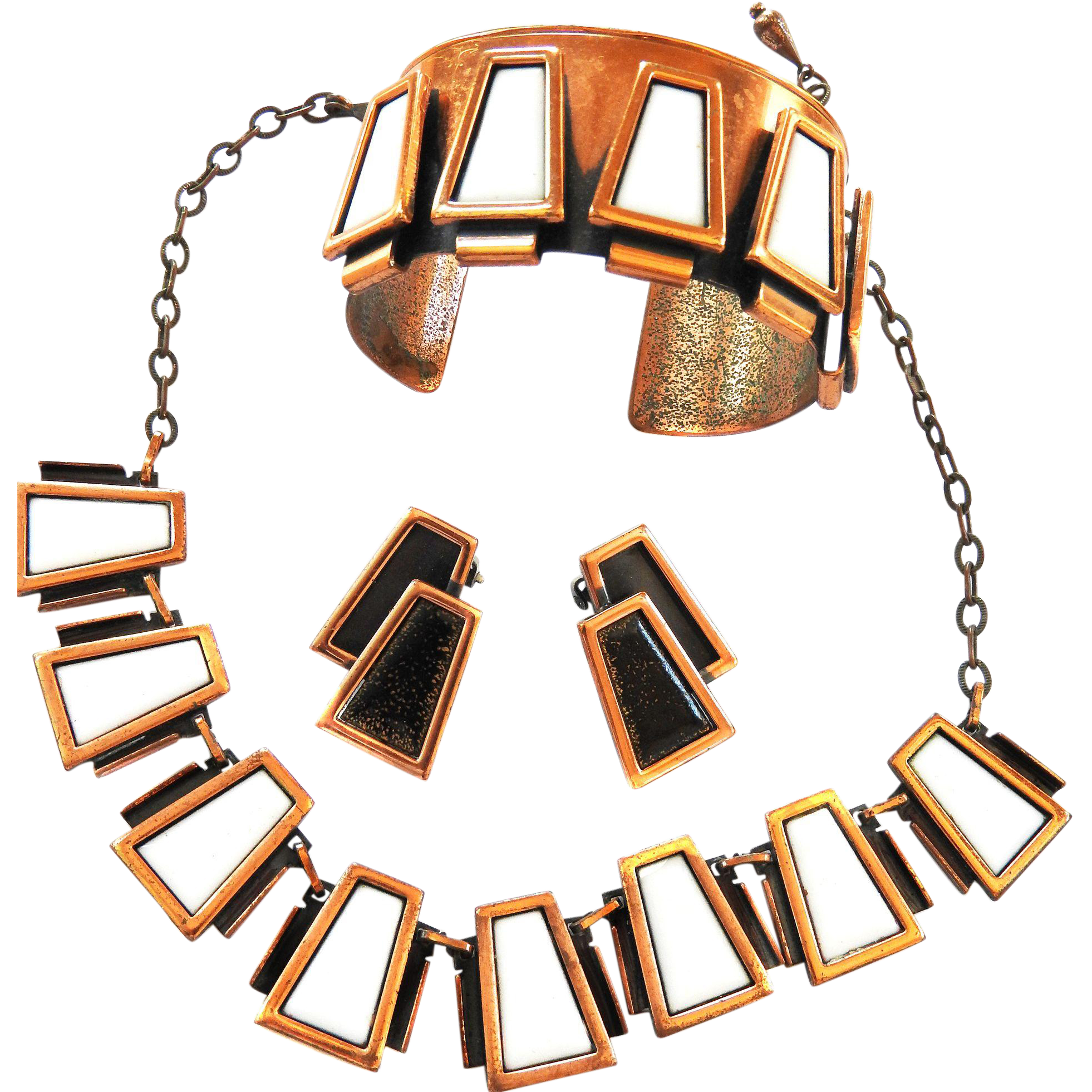 Mid Century Modern Matisse Necklace Bracelet Earrings