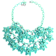Feather Weight 1920s Celluloid Bib Collar Must C
