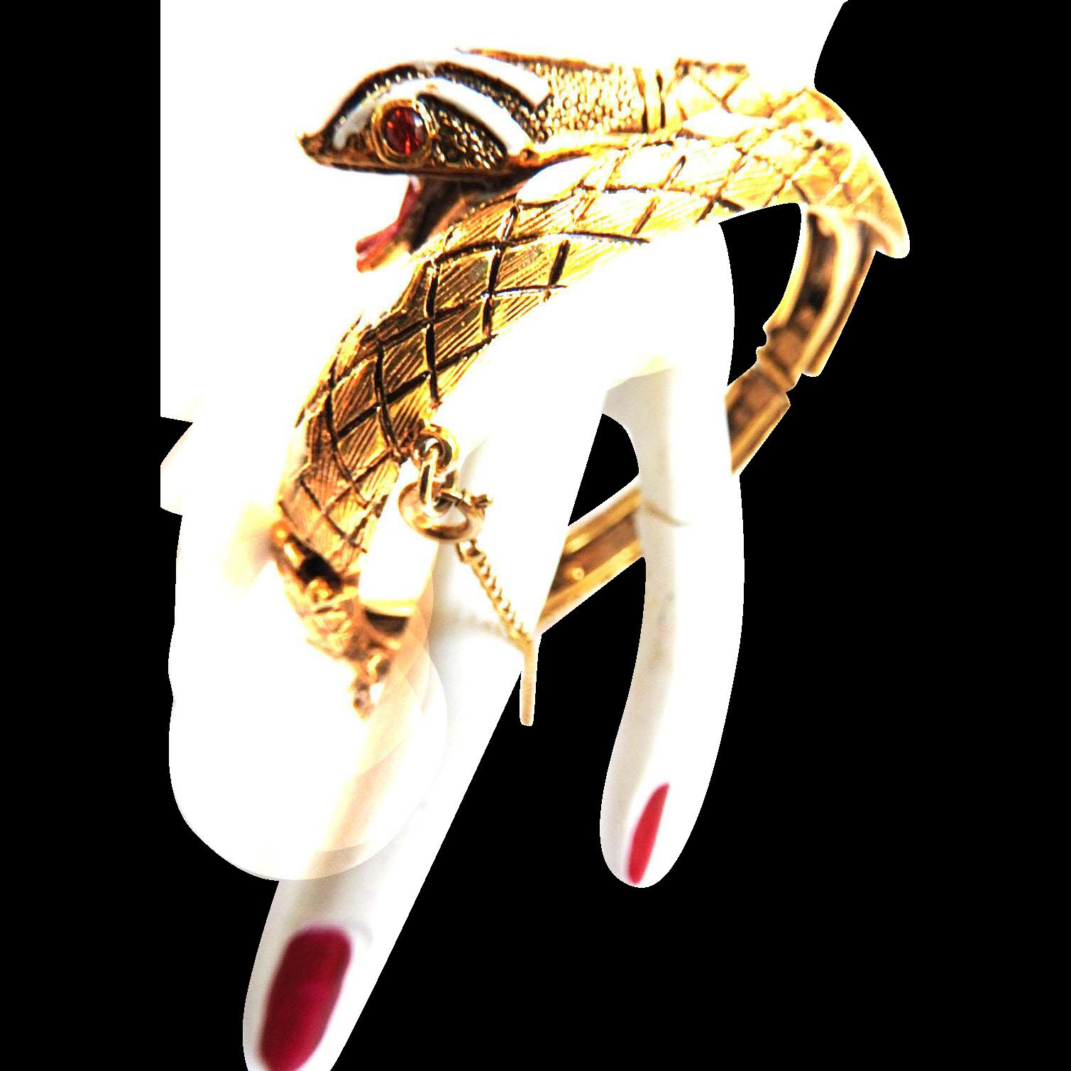 Mystical Vintage Designer Detailed Cobra Bracelet