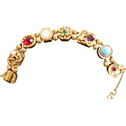 Griffins and Serpents Oh MY Goldette Slide Bracelet  Vintage