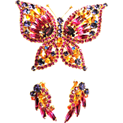 Juliana Butterfly Brooch and Earrings Demi