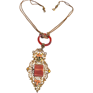 Exquisite Victorian Late 1800s Carnelian Necklace