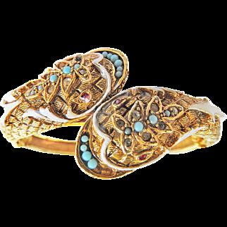 Fabulous Designer Clamper Double Headed Cobra Bracelet