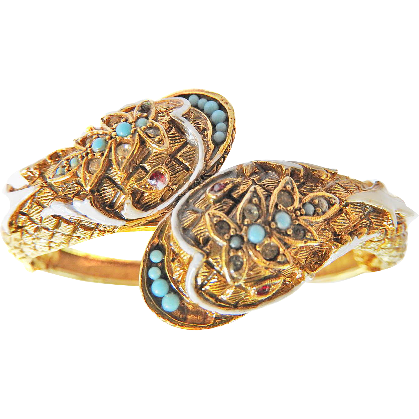 Fabulous Designer Clamper Double Headed Cobra Bracelet