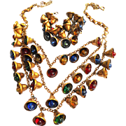 1940s Haskell Jingle Bell Necklace and Bracelet
