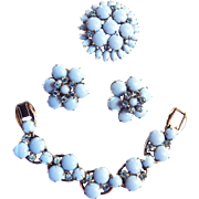 Vintage Juliana Baby Blue Bracelet Brooch