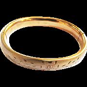 Victorian 12kt Gold Filled Bangle Bracelet