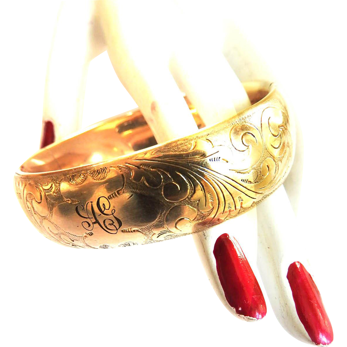 Late 1800s Gold Filled Bangle Bracelet