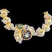 Quivering Camelia 1940s Bracelet Spectacular