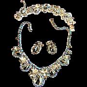 Juliana Chunky Hematite Cabochon Necklace Bracelet Earrings Brooch