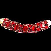 Juliana Chunky 5 Link Ruby Red Bracelet