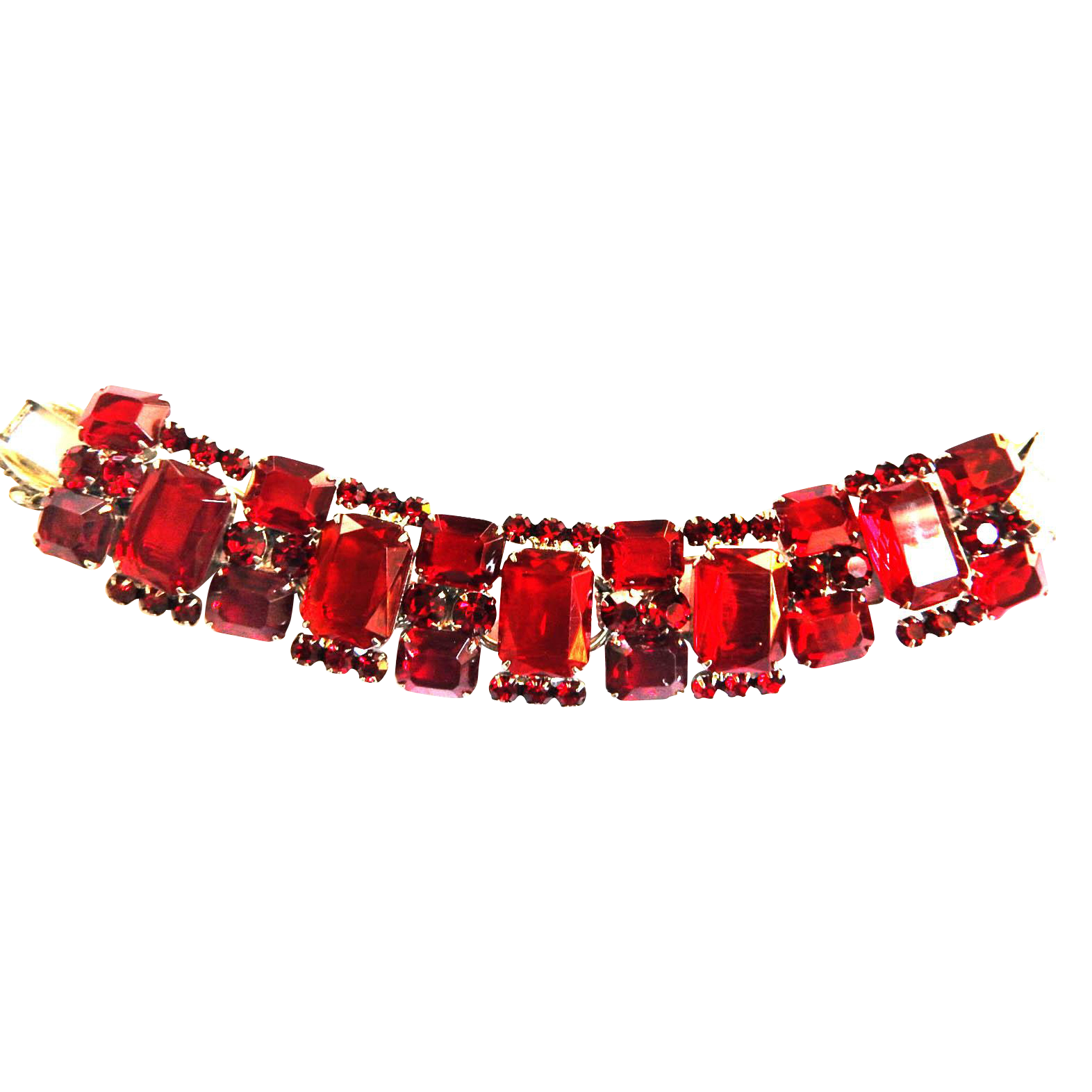 Juliana Chunky 5 Link Ruby Red Bracelet