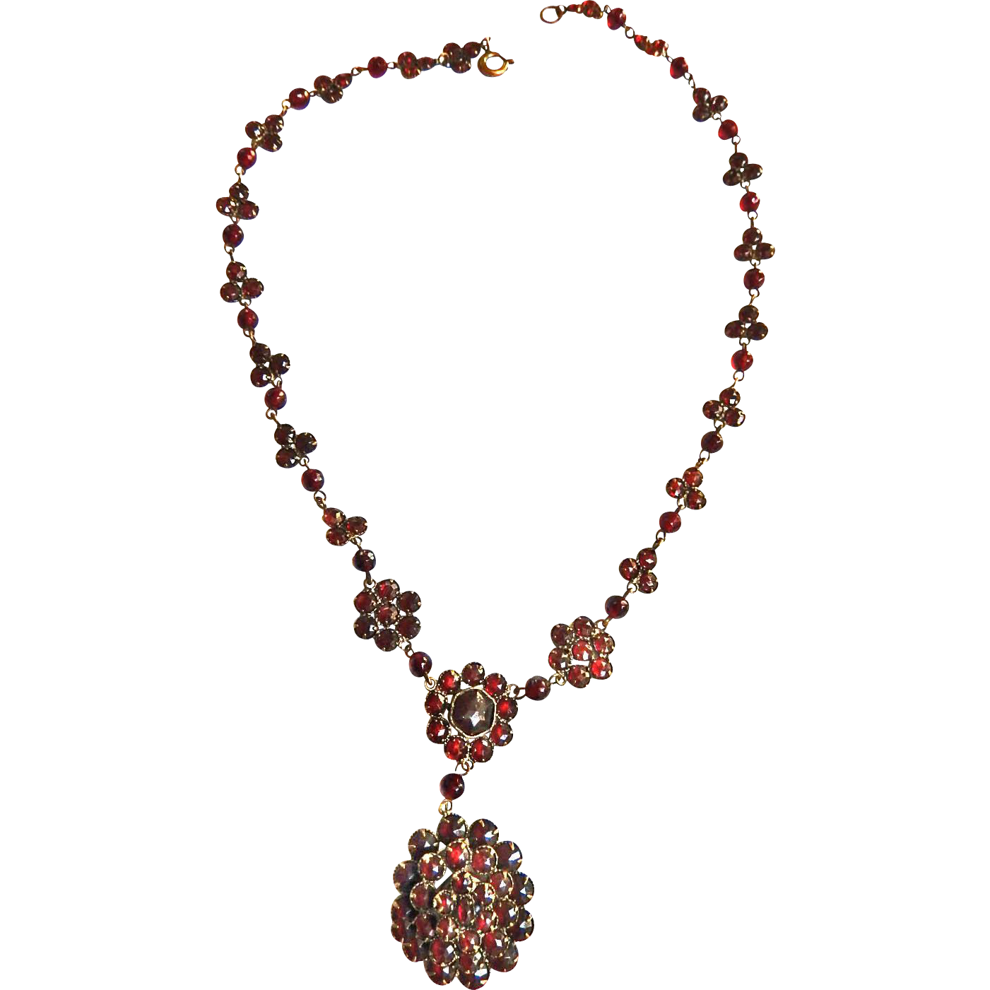 Exquisite Late 1800s Victorian Garnet Necklace