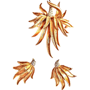 Gorgeous Boucher 1950s Brooch and Earrings