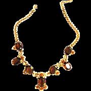 Schiaparelli Vintage Topaz Huge Stones Necklace