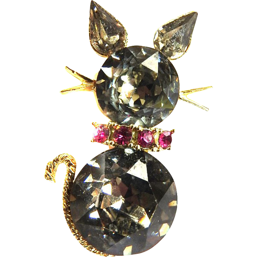 Chunky Dodds Kitty Pin Vintage 50s