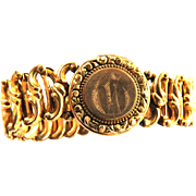 WW2 Gold Filld Expansion Bracelet with Photo Compartment