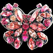 Regency Butterfly Brooch Pink and Fuchsia