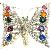 Huge Vintage High End Designer Butterfly Brooch