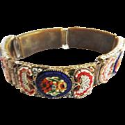 Vintage Italian Micro Mosaic Bracelet