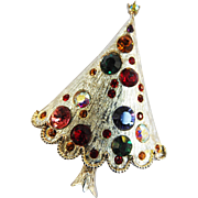 Vintage Xmas Tree with Rhinestones