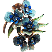 Vintage Weiss Highly Detailed 40s Brooch