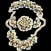 Elegant Juliana faux Pearl Drippy necklace Bracelet Earrings