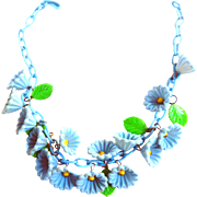 Early 1900s BlueBell Celluloid Necklace