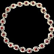 High End Designer Vintage Necklace Ruby Red