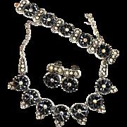 Massive Vintage Hematite Ultimate Obsession Necklace Bracelet Earrings