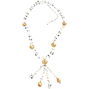 Exquisite Flapper Crystal Necklace Waterfall  and Beautiful