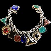 Vintage 40s FOB Charm Bracelet Intaglios